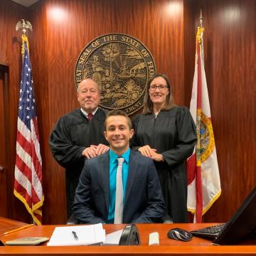 Thank you to Judge Nicole Menz and Judge David Morgan for providing a valuable experience to one of our summer interns, John LaLime
