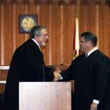 Judge Jerald Bryant makes a presentation on behalf of The Florida Conference of County Court Judges.